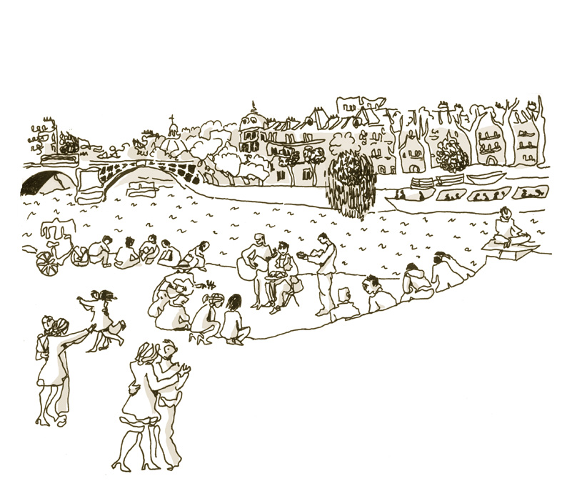 Danse en bord de Seine