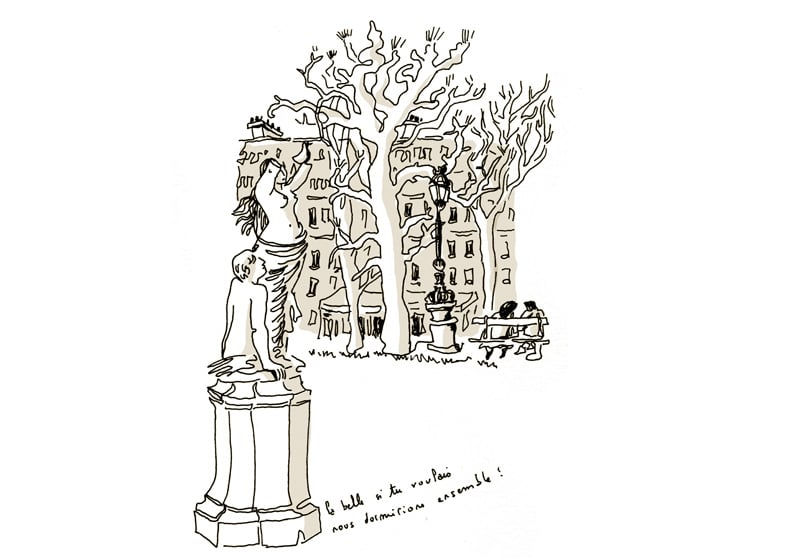 Statue jardin Marco Polo