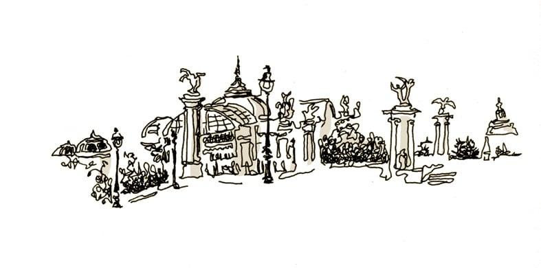 Grand Palais de loin