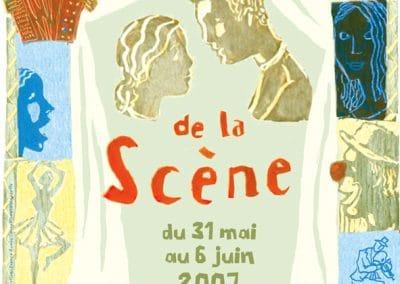 Affiche festival du devant de la scène 2007