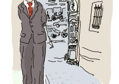 Hessel devant la villa Hadrienne