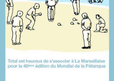 Affiche Mondial de pétanque La marseillaise