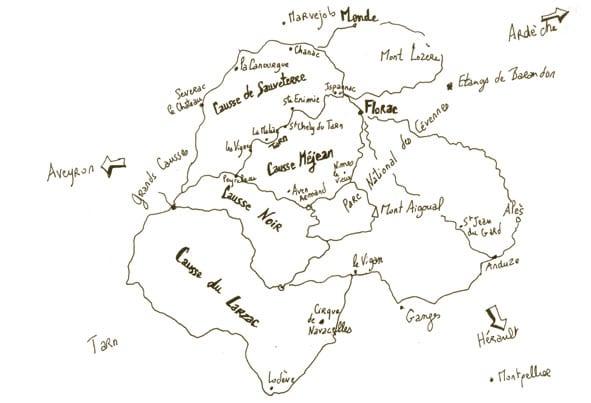Carte de Lozère