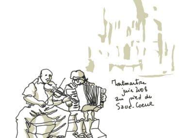 Deux musiciens à Montmartre