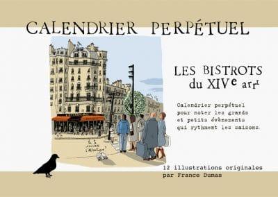 """Calendrier perpétuel """"les bistrots du 14e"""""""