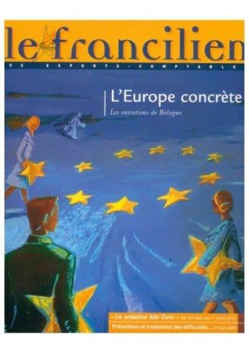 """Couverture magazine """"Le francilien"""""""