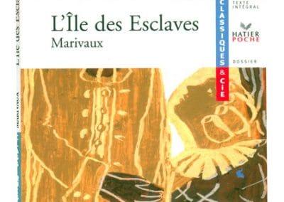 """Couverture livre """"L'île aux esclaves"""" Marivaux"""