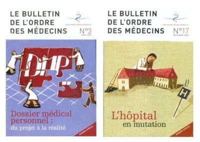 """Couvertures magazine """"Ordre des médecins"""""""