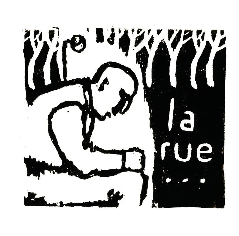 """Couverture carnet """"La rue"""""""