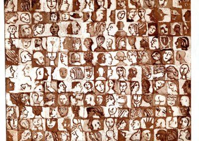 Mosaïque visages