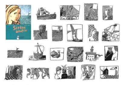 "Illustrations livre ""Sirène amère"""