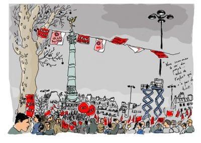 Mélenchon à la Bastille