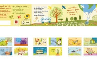 sortie d'un carnet de timbres éco-gestes