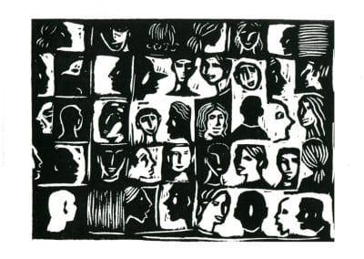 Visages en noir et blanc