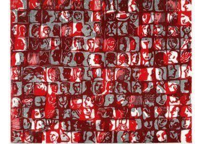 Visages rouges