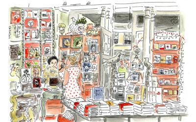 Début d'un reportage dessiné à Montmartre