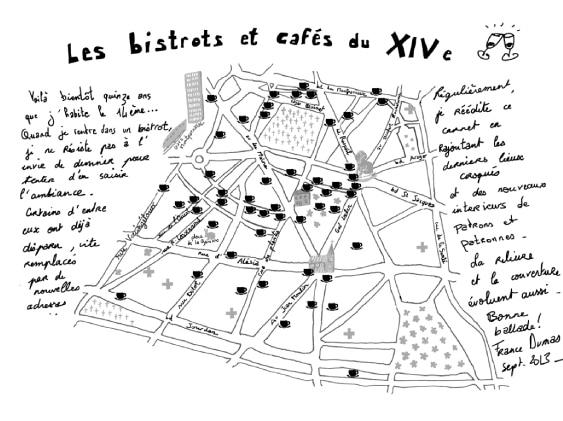 Carte des bistrots du 14e