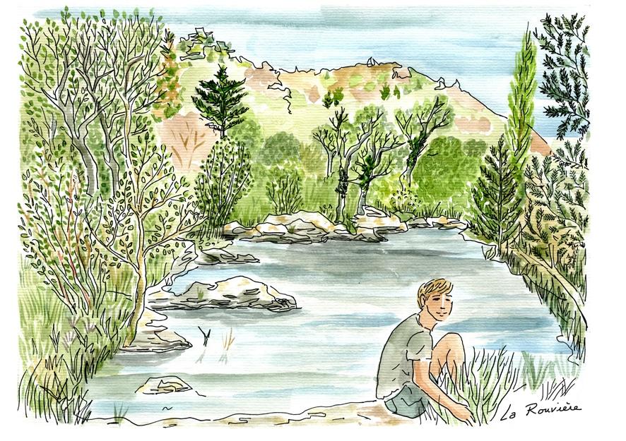 Jo à la rivière pour cal