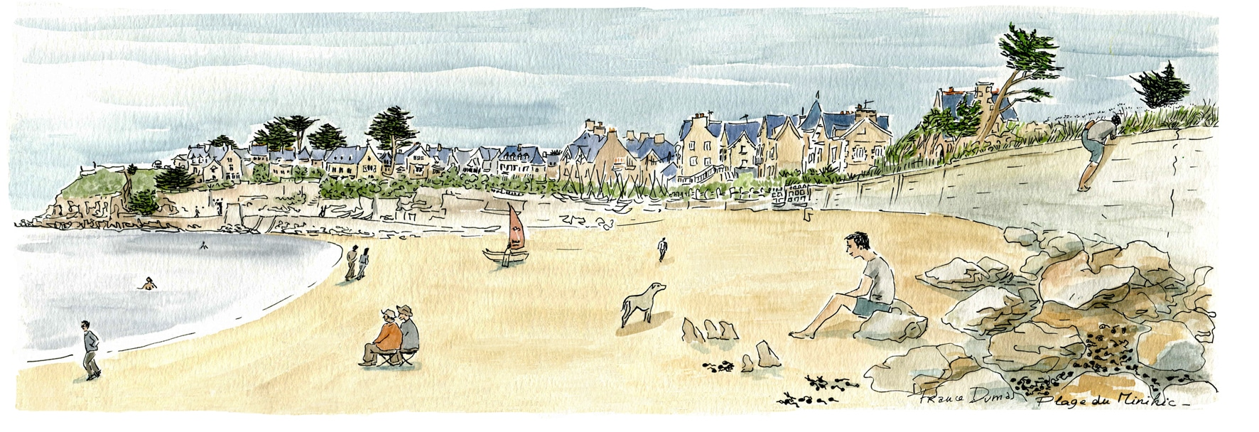 Saint Malo - plage du pont double