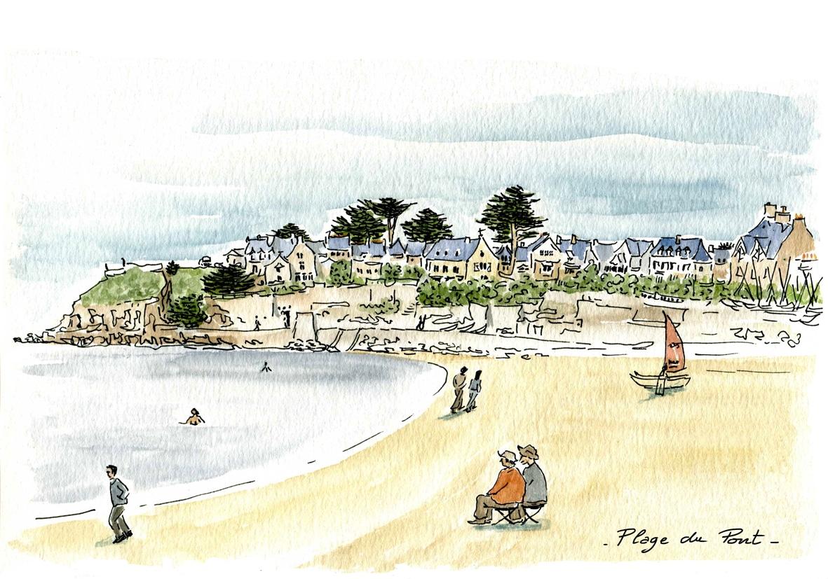 Saint Malo - plage du pont- novembre