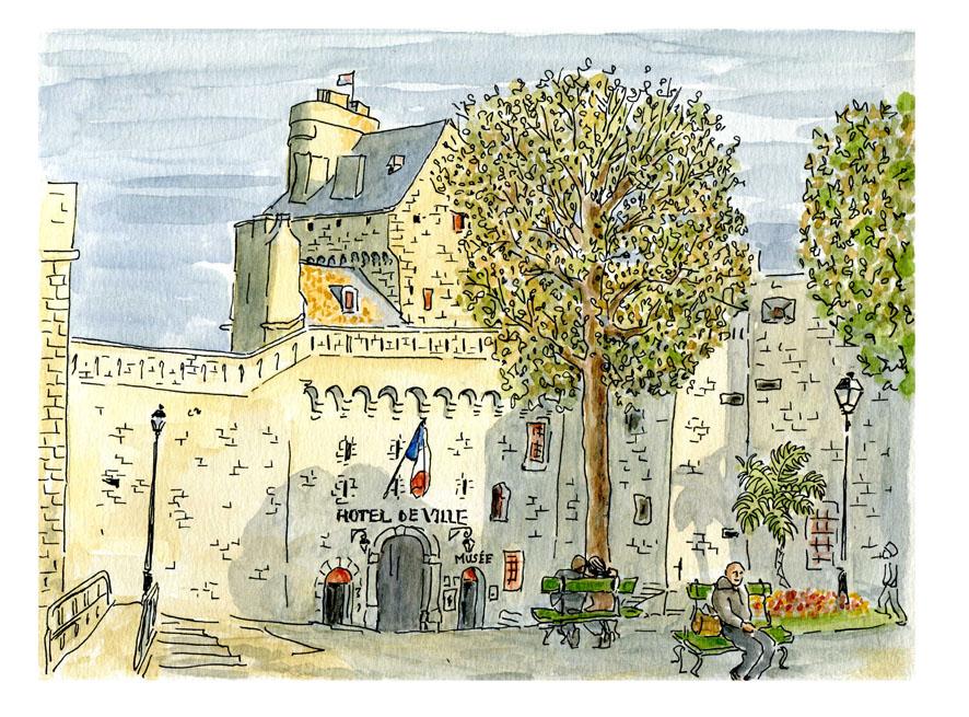 Saint Malo -hotel de ville