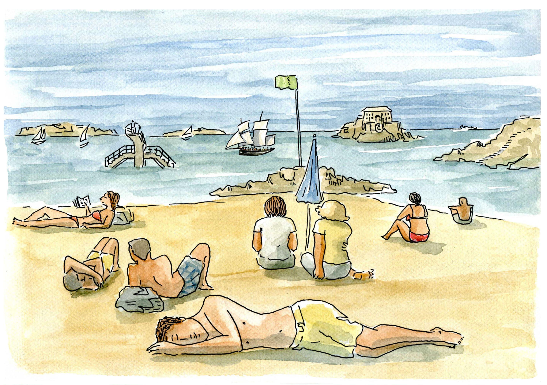 Saint Malo - plage du bon secours2